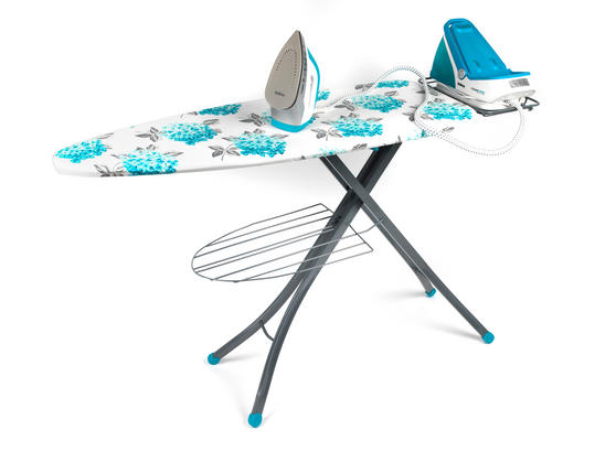 Beldray 2400W Steam Surge Pro Steam Generator Iron Station and Teal Ami Print Ironing Board Set Thumbnail 2
