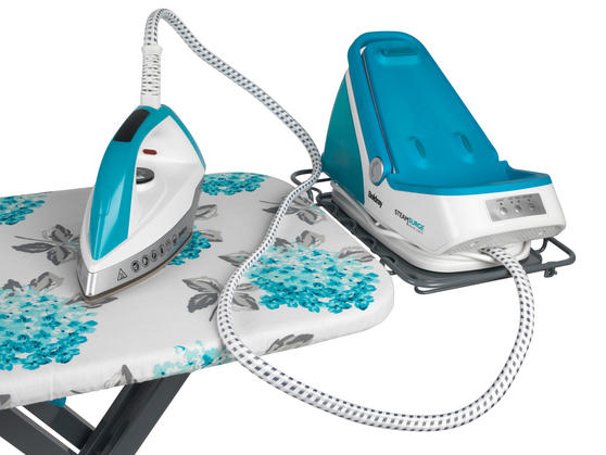 Beldray 2400W Steam Surge Pro Steam Generator Iron Station and Teal Ami Print Ironing Board Set Thumbnail 3