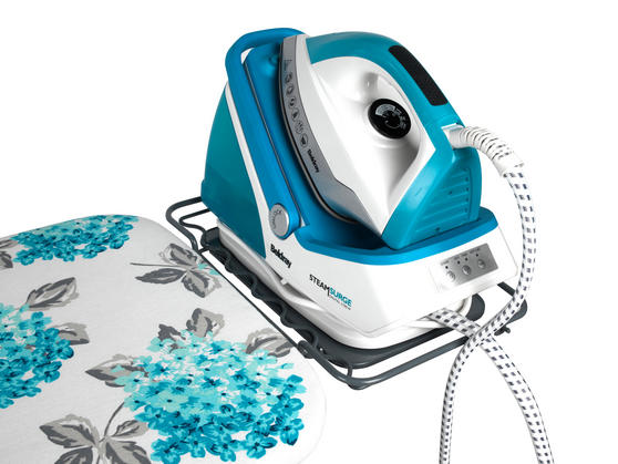 Beldray 2400W Steam Surge Pro Steam Generator Iron Station and Teal Ami Print Ironing Board Set Thumbnail 4