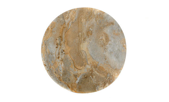 Inspire Stone Effect Round Placemat, 38cm, PVC, Indian Gold