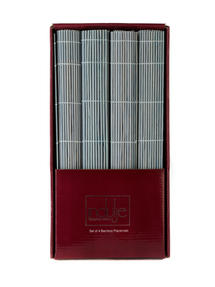 Indulje Bamboo Placemats, 30 x 45cm, Blue, Set of 4 Thumbnail 2