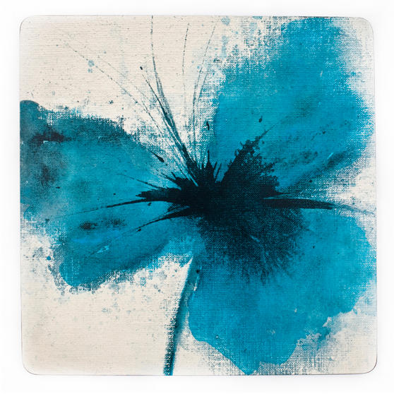 Inspire BCH218810 Luxury Powder Poppy Placemats, 29 x 29cm, Hardboard, Blue, Set of 4