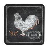 Inspire BCH281654 Luxury Chalkboard Rooster Coasters, 10.5 x 10.5cm, Hardboard, Black, Set of 4 Thumbnail 1