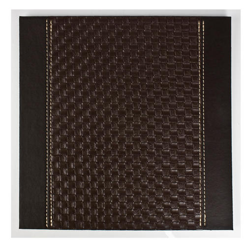 Inspire HY220110 Luxury Tram Weave Leather Placemats, 28 x 28cm, Faux Leather, Brown, Set of 4