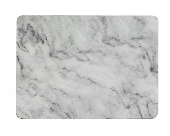 Indulje UN000089 Luxury Absolute Placemats, 29 x 21.5cm, Hardboard, Grey, Set of 4