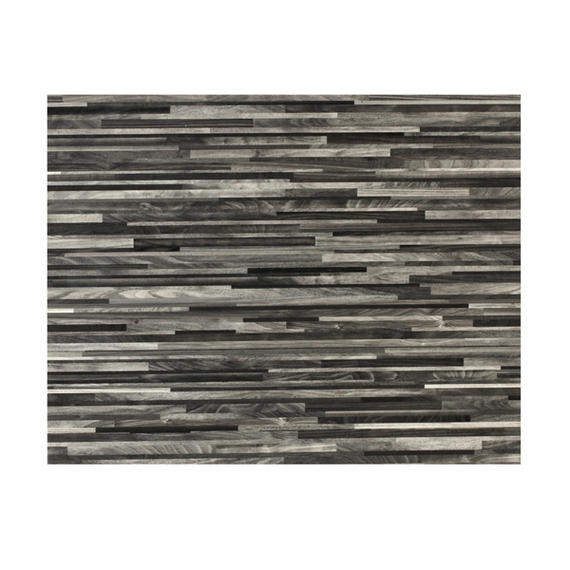 Indulje HY282972 Luxury Wood Effect Leather Placemats, 28 x 22cm, Faux Leather, Grey, Set of 4