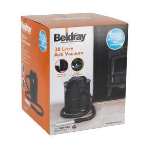 Beldray EH1781 Ash Fireplace BBQ Chimney Vacuum Cleaner, 1200 W, 20 Litre Thumbnail 6