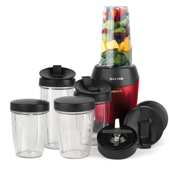 Salter EK2002 1000W NutriPro Set with Multi-Purpose Nutrient Extractor Blender and Accessory Pack, Including 2 x 1 Litre Cups and 3 x 800 ml Cups