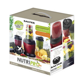 Salter EK2002 1000W NutriPro Set with Multi-Purpose Nutrient Extractor Blender and Accessory Pack, Including 2 x 1 Litre Cups and 3 x 800 ml Cups Thumbnail 8