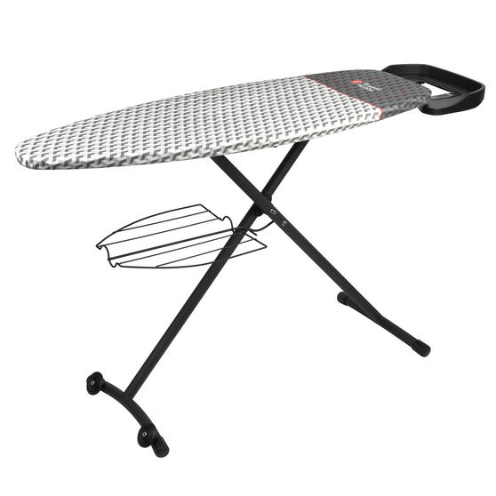 Russell Hobbs Ironing Board with Iron Rest and Clothes Rack , 134 x 45cm, Black