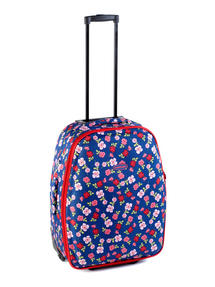 "Constellation Eva Ditsy Floral Print Suitcase, 22"", Raspberry"