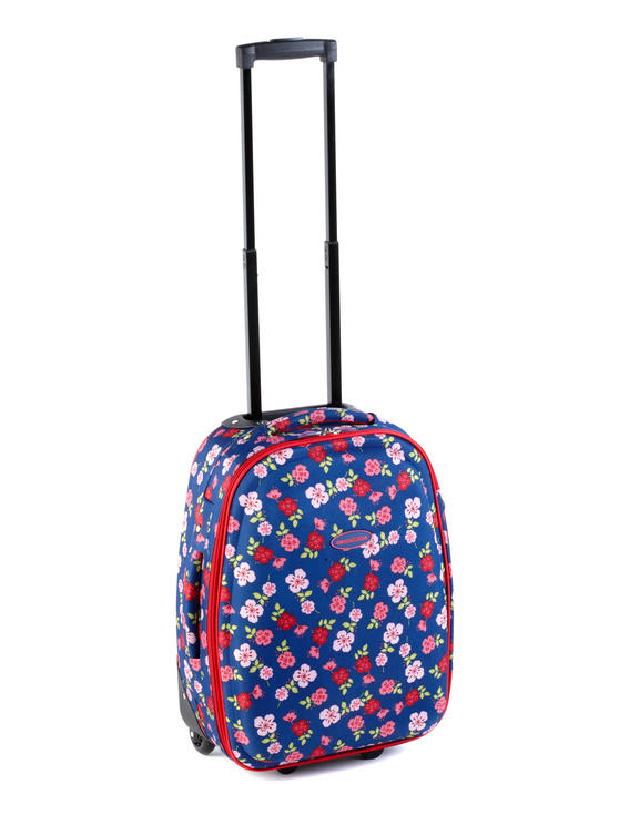 Constellation Eva Ditsy Floral Print Suitcase, 18?, Raspberry