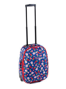 Constellation Eva Ditsy Floral Print Suitcase, 18?, Raspberry Thumbnail 1
