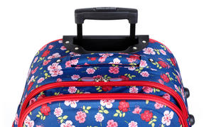 Constellation Eva Ditsy Floral Print Suitcase, 18?, Raspberry Thumbnail 3