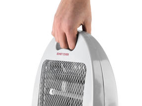PROlectrix Portable Quartz Heater with 2 Heat Settings, 400/800W, White Thumbnail 3