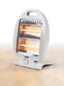 PROlectrix Portable Quartz Heater with 2 Heat Settings, 400/800W, White Thumbnail 4