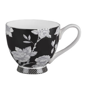 Portobello Sandringham Shaded Flowers Footed Bone China Mugs, Mixed Set of 4 Thumbnail 6