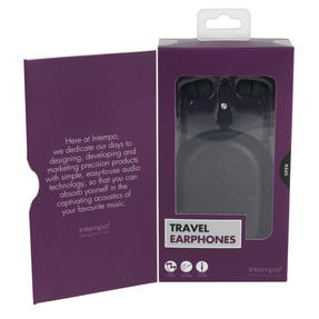 Intempo EE1740BLKSTK Travel Earphones with Carry Case, Black Thumbnail 9