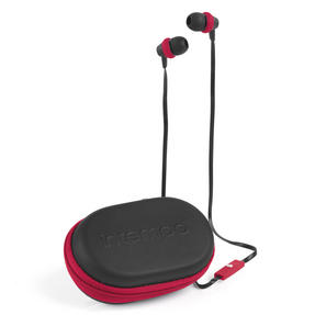 Intempo EE1740BURSTK Travel Earphones with Carry Case, Burgundy