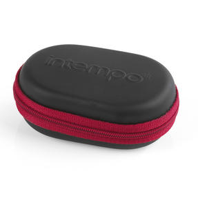 Intempo EE1740BURSTK Travel Earphones with Carry Case, Burgundy Thumbnail 4