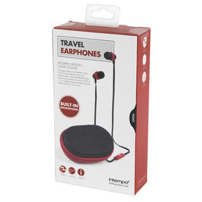 Intempo EE1740BURSTK Travel Earphones with Carry Case, Burgundy Thumbnail 7