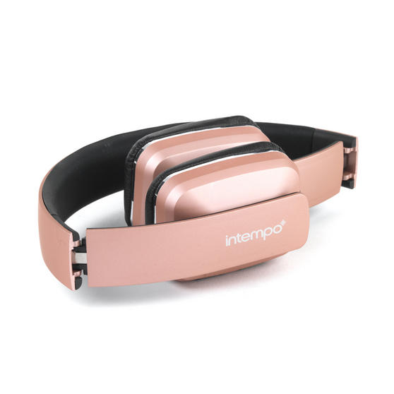 intempo bluetooth wireless headphones rose gold headphones no1brands4you. Black Bedroom Furniture Sets. Home Design Ideas