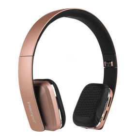 Intempo Bluetooth Wireless Headphones, Rose Gold Thumbnail 1
