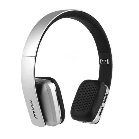 Intempo Bluetooth Wireless Headphones, Silver