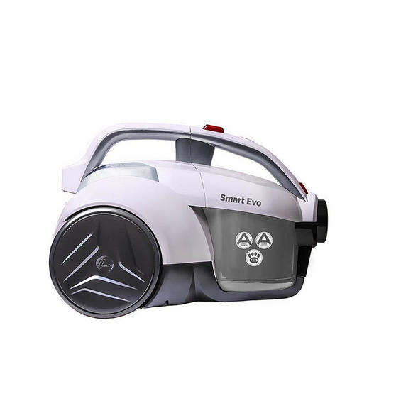 Hoover Smart Evo Pets Cylinder Vacuum Cleaner, 1.2 Litre, 700W, Red/Grey/White