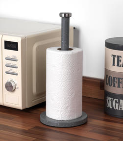Salter Marble Collection 2 Piece Countertop Set, Mug Tree and Paper Towel Holder, Grey Thumbnail 8