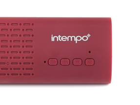 Intempo Mini Bluetooth Sound Bar, Red Thumbnail 6