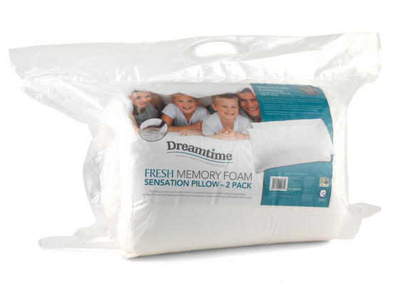 Dreamtime MFAB0321TWIN Fresh Memory Foam Sensation Pillow, Twin Pack