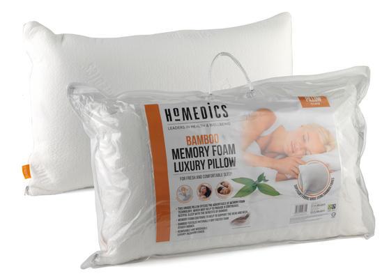 HoMedics MFHB07815 Luxury Memory Foam Bamboo Pillow, 70 x 40 cm