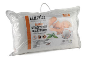 HoMedics MFHB07815 Luxury Memory Foam Bamboo Pillow, 70 x 40 cm Thumbnail 2