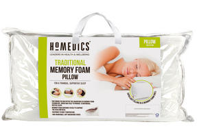 HoMedics MFHST85472 Traditional Memory Foam Pillow, 69 x 37 cm Thumbnail 2
