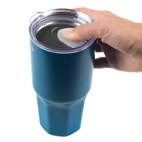 Progress BW05854B Thermal Insulated Travel Cup Dipped Tumbler with Lid, 550 ml, Stainless Steel, Blue Thumbnail 6