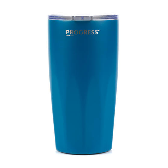 Progress BW05855B Thermal Insulated Travel Cup Tumbler with Lid, 550 ml, Stainless Steel, Blue