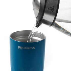Progress BW05855B Thermal Insulated Travel Cup Tumbler with Lid, 550 ml, Stainless Steel, Blue Thumbnail 8