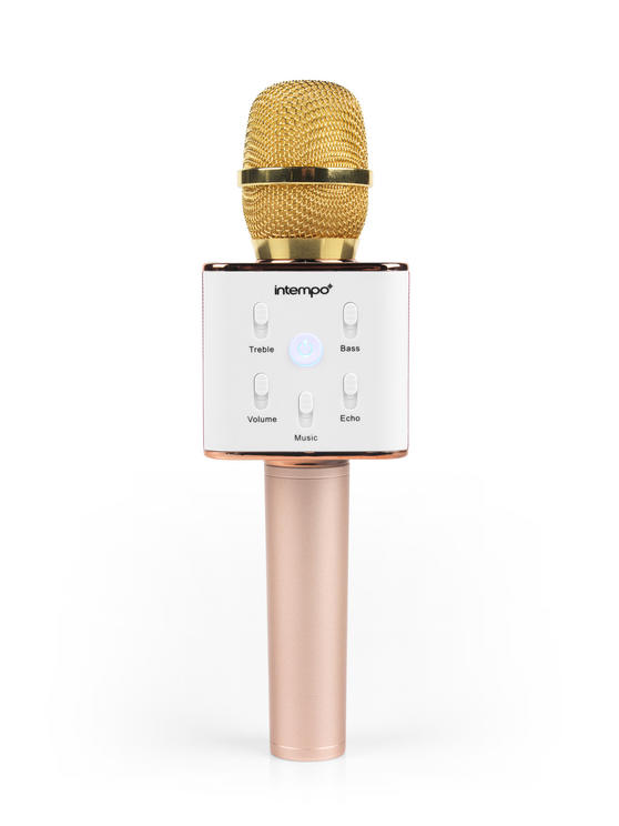Intempo Karaoke Microphone, Rose Gold/Gold