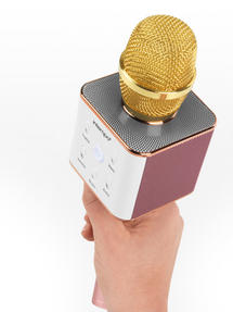 Intempo Karaoke Microphone, Rose Gold/Gold Thumbnail 2