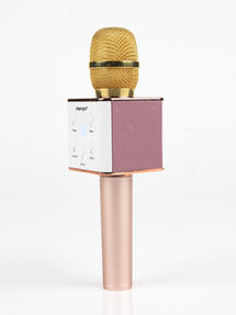 Intempo Karaoke Microphone, Rose Gold/Gold Thumbnail 3