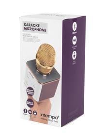 Intempo Karaoke Microphone, Rose Gold/Gold Thumbnail 4