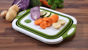 Salter 2 in 1 Collapsible Chopping Board and Colander Thumbnail 3