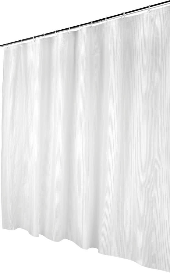 Beldray Linear Shower Curtain with Hooks, 180 x 180cm, PEVA, White Thumbnail 5