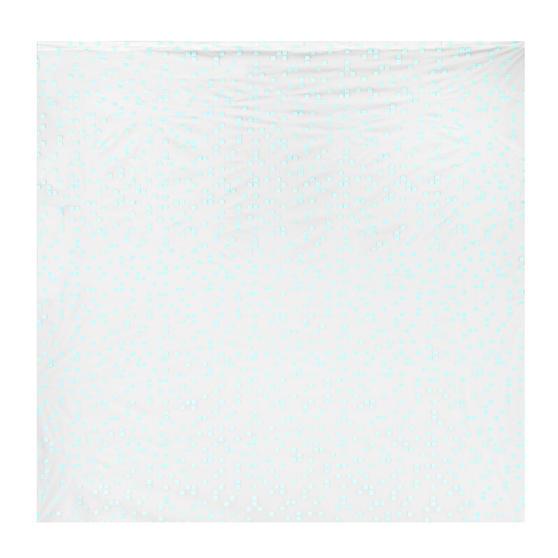 Beldray Pixel Shower Curtain with Hooks, 180 x 180cm, PEVA, White Thumbnail 2