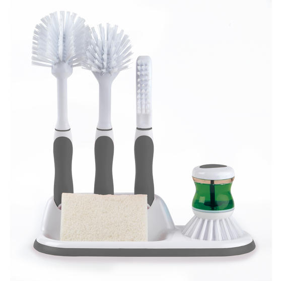 Beldray LA030979 4 Piece Kitchen Scrubbing Brush Set Grey