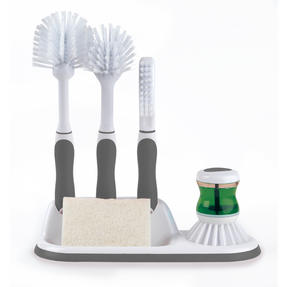 Beldray LA030979 4 Piece Kitchen Scrubbing Brush Set Grey Thumbnail 1