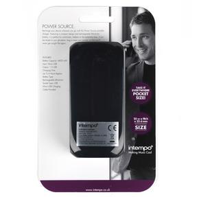Intempo EG0318BLKSTK Compact Portable Charger, 4400mAh, Black Thumbnail 7