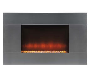 Beldray EH1315 Pittsburgh Electric Wall Fire with LED Light Effect, 2000 W, Stainless Steel