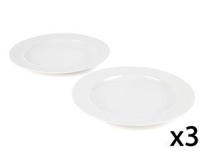 Alessi La Bella Tavola Porcelain Dinner Plates in Gift Box, 27cm, Set of 6
